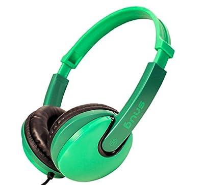 Snug Plug n Play Kids Headphones for Children (Green)