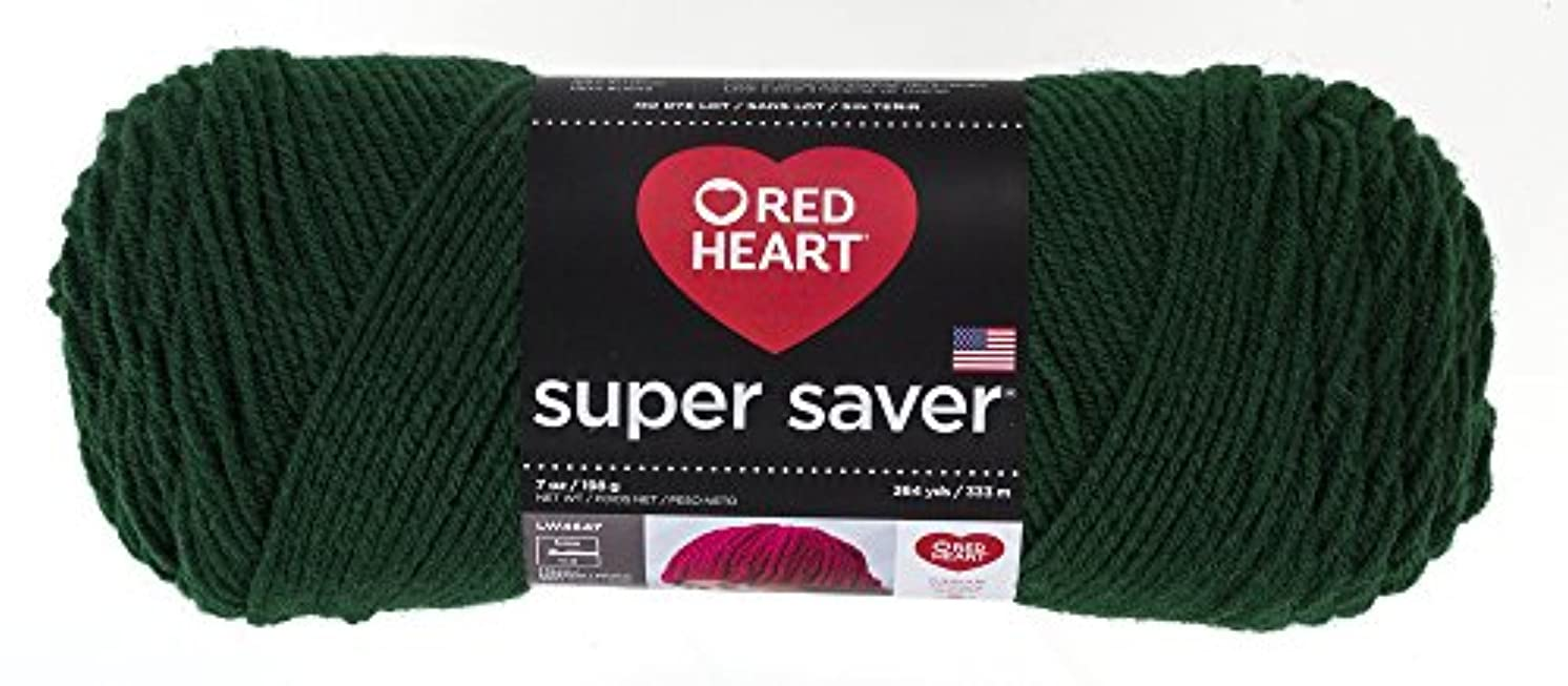 Red Heart Super Saver Yarn, Hunter Green
