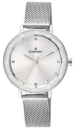 Radiant dameshorloge met zilverkleurige armband en wit display RA467601