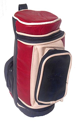 Portland Golf Bag Kulturbeutel, Marineblau / Rot / cremefarben