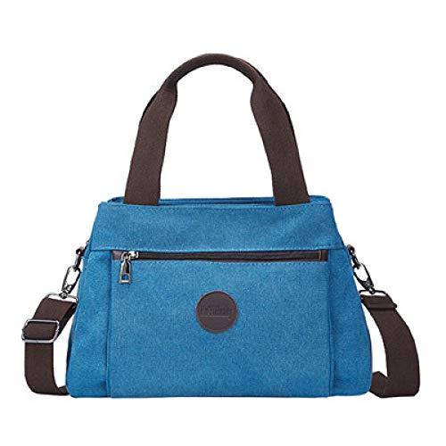 CMZ Rucksack Retro Casual Frauentasche Canvas Damenhand Schulter Umhängetasche Damen Large Capacity Multi-Interlayer Canvas Bag