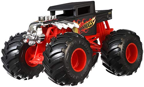 Hot Wheels Monster Trucks Bone Shaker die-cast 1:24 Scale Vehicle with Giant Wheels for Kids Age 3 to 8 Years Old Great Gift Toy Trucks Large Scales