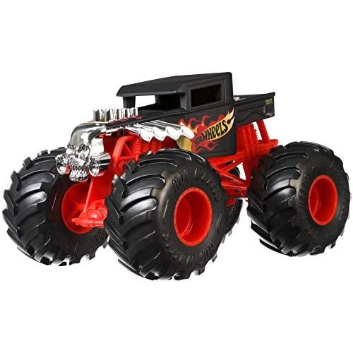 Hot Wheels Monster Truck Bone Shaker 1:24, Macchinina Die-Cast, GCX15