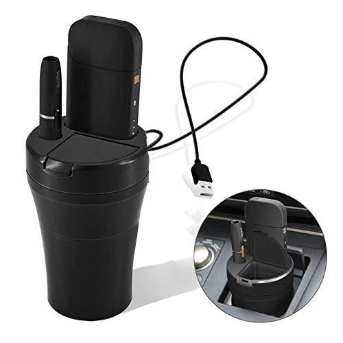 LUXACURY iQOS Multi 3 Auto Halter IQOS Multi 3 Ladeger/ät Auto Aschenbecher Mini Charger Holder for IQOS Multi 3.0 Zubeh/ör E-Zigarette mit Ladekabel USB