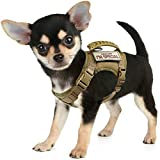 Tactical Dog Training Harness Working Vest No-Pull Adjustable Outdoor k9 Military Vest Harness With Rubber Handle MOLLE Loop Panels
