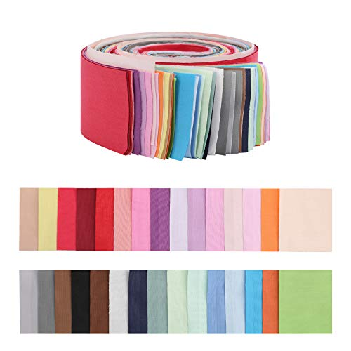 Jelly Roll Fabric Strips for Quilting,30 PCS Roll Cotton Fabric for Sewing with Different Patterns,2.6x41.3 Inches Quilting Fabric Strips for Patchwork Craft DIY