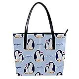"""LORVIES - Borsa a tracolla da donna in pelle sintetica con motivo """"Amore della mamma e del bambino, con pinguino"""", borsa a tracolla"""