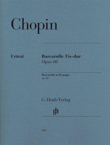 Barcarolle Fis-dur opus 60 für Klavier