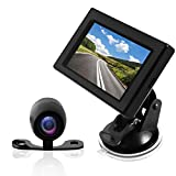 Pyle Backup Car Camera Rear View Screen Monitor System - Parking & Reverse Safety Distance Scale Lines, Waterproof, Night Vision, 170° View Angle, 4.3' LCD Video Color Display for Vehicles - (PLCM44)