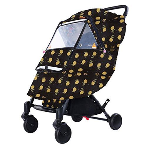 Lwieui Baby-Auto-Regen-Abdeckung Kinderwagen Wetterschutzabdeckung warmen Winter-Baby aus der Artifact Windschutzscheibe Universal-Kinderwagen Covers Regen und Wind (Farbe : E, Größe : Einheitsgröße)