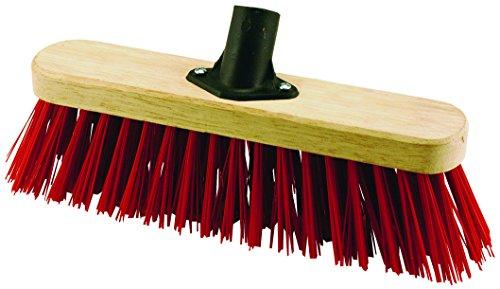 Elliott - Scopa con setole dure in PVC, 29 cm, Colore Rosso