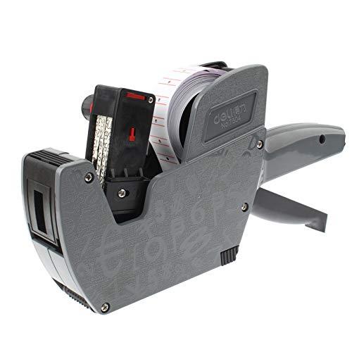 Krimpfolie Robuust en duurzaam High Performance Handheld inkt 8 cijfers etiketteersysteem, Gray (No.7504) (zwart) spanbanden label machine elektrische pomp