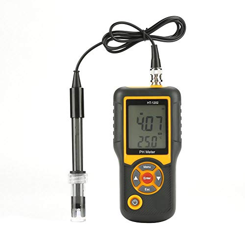 FTVOGUE HT-1202 Misuratore di Temperatura Digitale ad Alta precisione del Tester di qualità dell\'Acqua del Tester PH 0~14PH