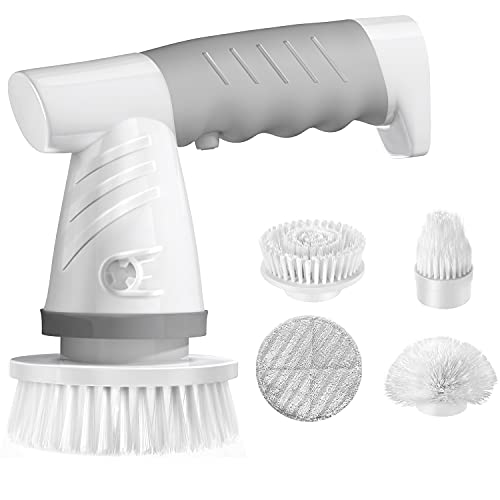 IEZFIX Electric Spin Scrubber, Bathroom Scrubber Rechargeable Shower...