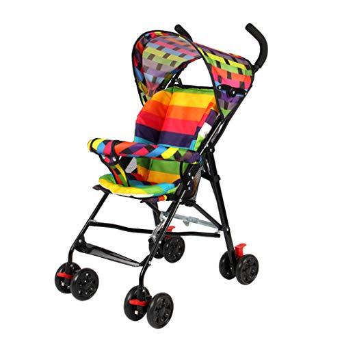 Poussette pliante pour bébé/poussette de voyage pour bébé, système de voyage compact et léger (Color : A)
