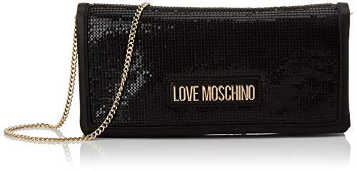 Love Moschino Jc4252pp0a, Pochette da Giorno Donna, Nero (Black Metal), 3x13x27 cm (W x H x L)