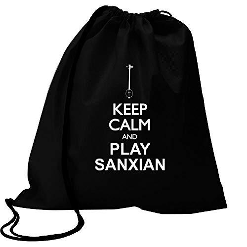 Idakoos Keep Calm and Play Sanxian - Silhouette Sport Bag