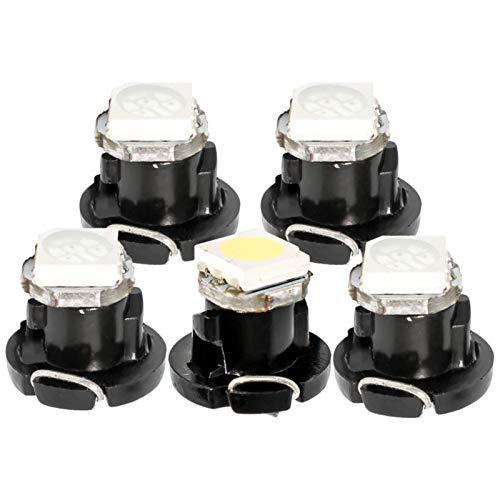 Glühbirne autolampen 10 stücke T4.2 T4 5050 LED Neo Wedge Dashboard Instrument Cluster Leerlauf Auto Paneeluhr Speedo Dash Bulbs Blau Rot Grün Gelb 10x led glühbirnen (Emitting Color : White)