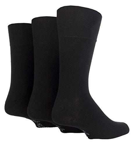 RJM 6Paar Herren BIG FOOT LOOSE TOP Honeycomb Uni Schwarz Gentle Grip Socken Gr. 11–14.