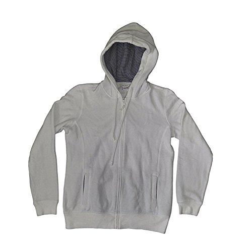 Nautica Full Zip Hoodie Sweater (White, L)
