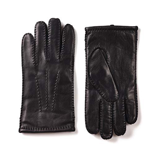 ZEN ELK Herrenhandgenähte Klassische Luxus Schaffell Handschuhe #65 (Medium)