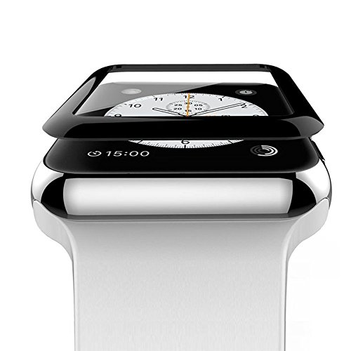 TiooDre Pellicola salvaschermo per Apple Watch Series 3/2/1, bordi curvi 3D Full Coverage Pellicola salvaschermo per Apple Watch Pellicola per vetro temperato Pellicola salvaschermo per iWatch (42MM)