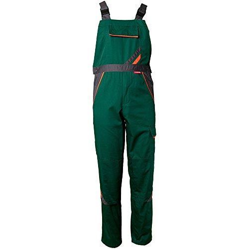 Planam Latzhose Visline, Größe 118, 1 Stück, grün / orange / schiefer, 2432118