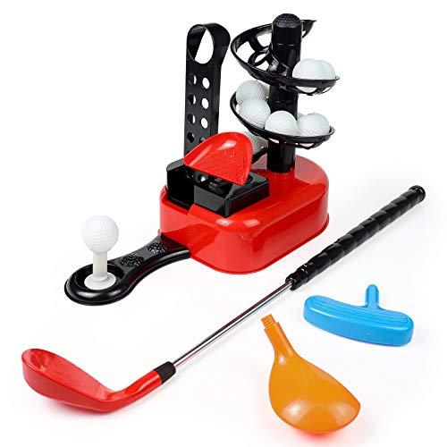 Fajiabao Golf Juegos Jardin para Niños-Mini Juego de Golf Palos de Golf y 15 Bolas de Golf Juegos al Aire Libre Juguetes Regalos para Niños Niñas 3 4 5 6 Años