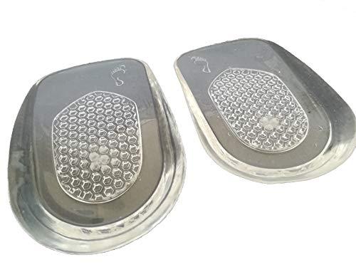 Taloneras Silicona Fascitis Plantar Plantillas Elevadoras Mujer Hombre Ser Más Alto 1 Cm Gel Talón Alza Zapatos Deportivas Amortiguación (TRANSPARENTE)