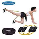 KIKIGOAL Fitness Training Resistance Belt Leg Strength Training Muscle Belt Band (Yellow 15LBS)