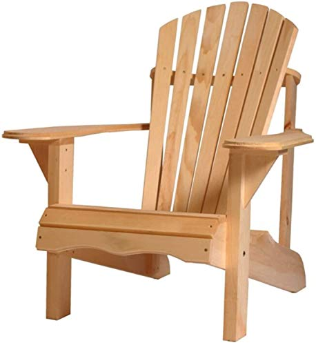 Adirondack Wooden Outdoor Patio Chair Fire Pit Garden Beach Lawn Seating Muskoka Cape Code Yard Chairs (Pine Unfoldable)