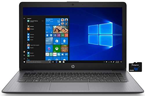 2021 HP Stream 14 inch HD Laptop PC, Intel Celeron N4000, 4GB RAM, 64GB eMMC, WiFi, Bluetooth, Webcam, HDMI, Windows 10 S with Office 365 Personal for 1 Year + Fairywren Card (Black)