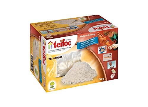 Teifoc TEI 990901 Steinbaukästen 990901-Mörtel, Multi Color, 250 g Beutel mit zusätzlichem Zement