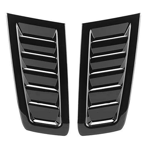 iFCOW Bonnet Vent Auto Car Abs Bonnet Air Vent Accesorio Modificado para Ford Focus Rs Mk2 (Negro Brillante)
