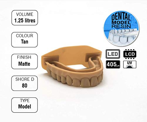Monocure 3D Rapid Dental Model Tan (marrón) 1,25 L: Amazon.es ...