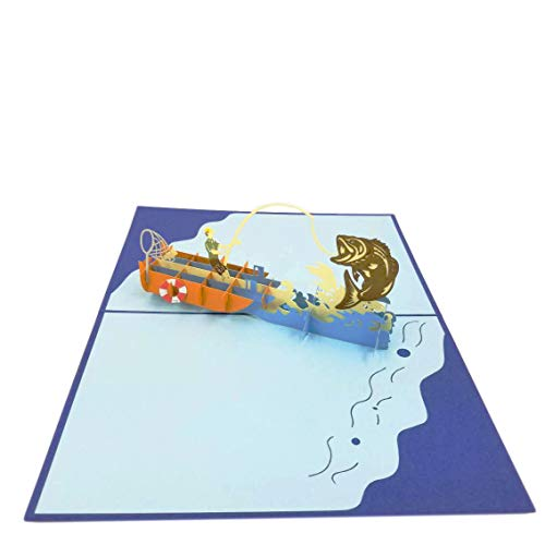 Fishing Boat Pop Up Card - Birthday Card, Retirement Card, Fathers Day, Mothers Day | Pop Card Express (Fishing Boat Pop Up Card)