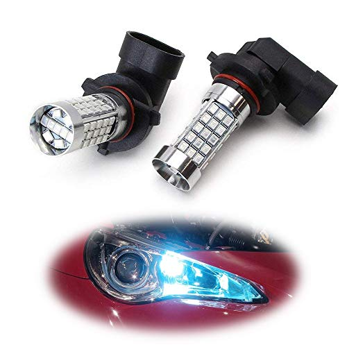 iJDMTOY (2) 10000K Ice Blue 69-SMD 9005 9145 H10 LED Bulbs Compatible With High Beam Daytime Running Lights or Fog Light Replacements