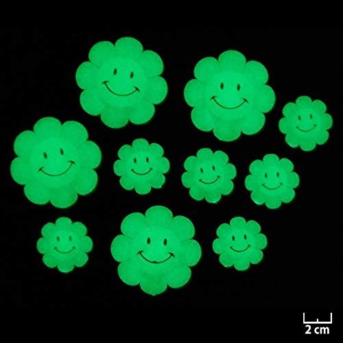 Décorations murales phosphorescentes lumineuses Fleurs