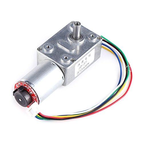 Motor de caja de engranajes de alto par DC 12V Motor de reducción de motor de tornillo sin fin de alto par con codificador Srong autoblocante para electrodomésticos(40RPM)