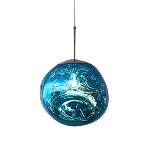 LYMHGHJ 1 x E27 Lavaglas Pendelleuchte, Postmodernismus Schmelzglas Kronleuchter Schmelze Glas Pendelleuchte Unregelmäßiges Design Pendelleuchte für Wohnzimmer Schlafzimmer Restaurant Esszimmer Home