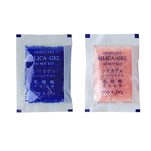 Dry & Dry [50 Packs] 5 Gram Blue Premium Indicating(Blue to Pink) Silica Gel Packets - Rechargeable(Upgraded)