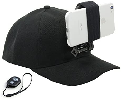 OCTO Mount Baseball Hat Compatible with Smartphone Cellphone GoPro Camera Head Mount with Remote product image