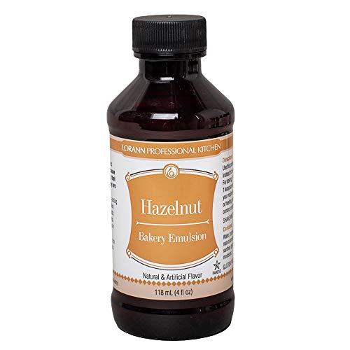 LorAnn Hazelnut Bakery Emulsion, 4 ounce bottle
