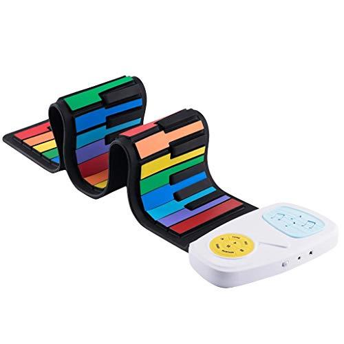 cookin Rainbow Roll Up Piano Toy portátil plegable estándar 49 teclas flexible electrónica teclado para niños
