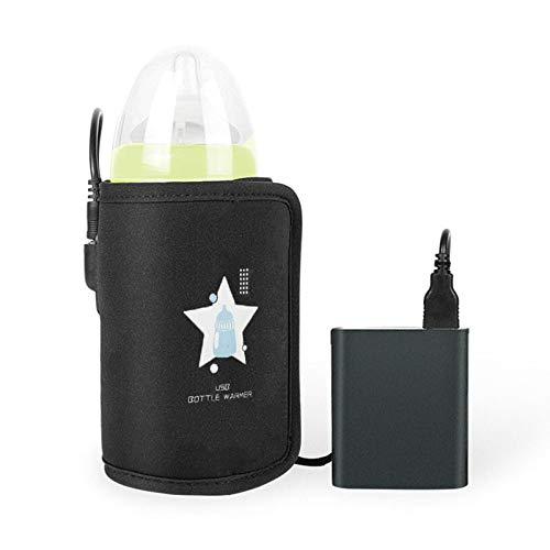 USB Baby Bottle Warmer, Razzil DC 5V USB Heating Portable Car Travel Milk Bottle Warmer, Keep Baby Milk Warm (Power Bank NOT Include)