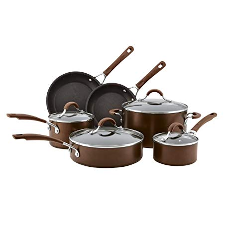 Circulon 10pc Hard Anodized Cookware Set Cocoa
