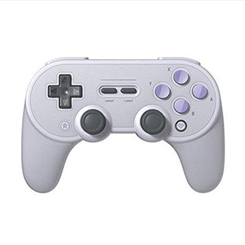 Quskto Gamepad contrôleur de Jeu Bluetooth sans Fil Peut être utilisé for Les Ordinateurs Portables Haute sensibilité et Plus Confortable (Color : Light Gray, Size : 15.36x10.27x6.43cm)