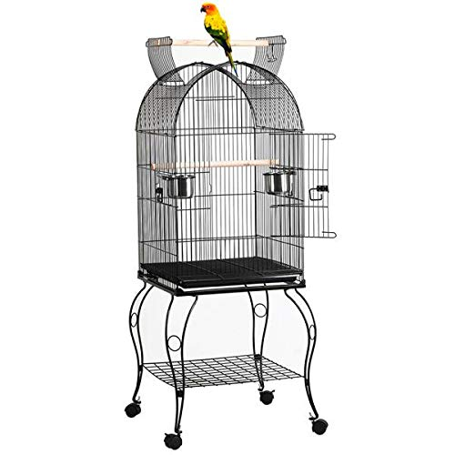 Yaheetech 59-inch Dome Open Top Large Medium Parrot Bird Cage On Stand for Sun Parakeets Conures...