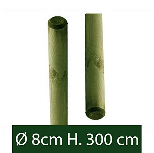 paletto per recinzione in ferro sezione T mm 30x30x3 Verde NEXTRADEITALIA CF da 1PZ Palo a T altezza 250 CM per recinzione PLASTIFICATO
