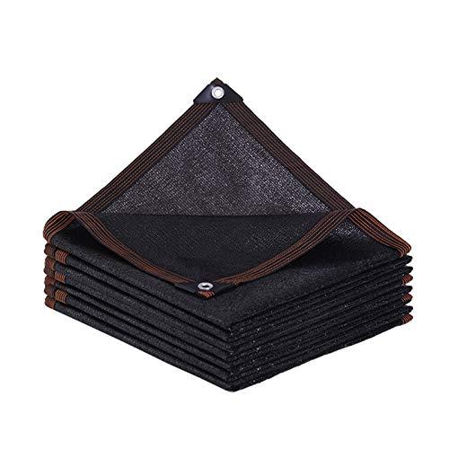 AWSAD Tela Sombra, Antienvejecimiento Toldos Exterior, Adecuado para El Techo del Balcón del Patio, 23 Tamaños (Color : Negro, Size : 6x6m)